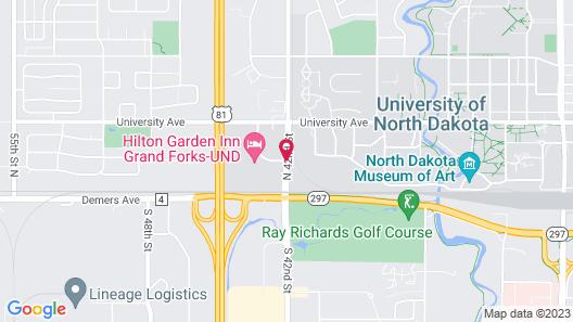 Hilton Garden Inn- Grand Forks/UND Map