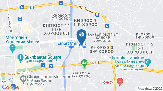 Chinggis Khaan Hotel Map