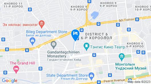 Premium Hotel Ulaanbaatar Map