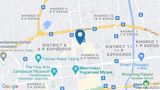 Novotel Ulaanbaatar Map