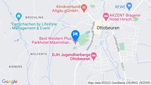 Best Western Plus Parkhotel Maximilian Ottobeuren Map