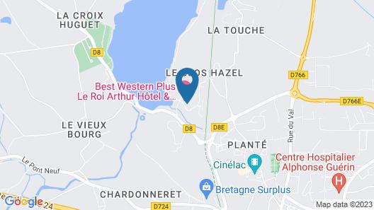 La Résidence Lancelot Map