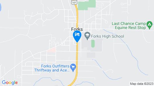 The Forks Motel Map