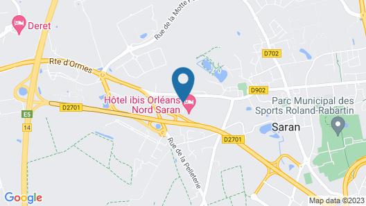 ibis Orléans Nord Saran Map