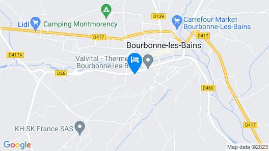 Hotel Restaurant d'Orfeuil Map