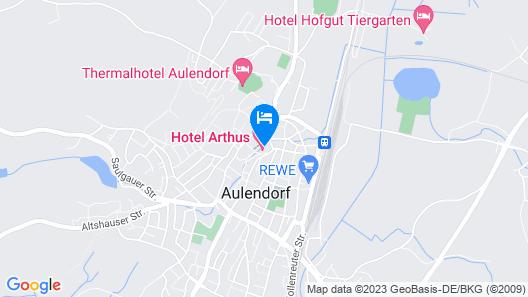 Hotel Arthus Map