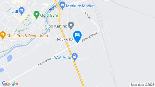 Hotel Hubert Nové Zámky Map