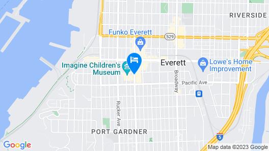 Courtyard by Marriott Seattle Everett Downtown Map