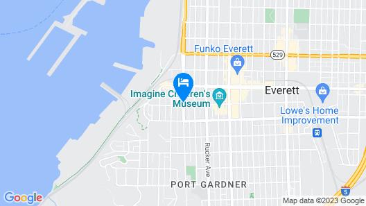 Hampton Inn Seattle/Everett Map