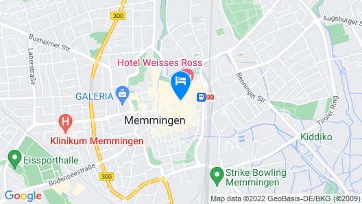 Joesepp´s Hotel am Hallhof Map