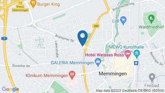 A2 Boarding House Memmingen Map