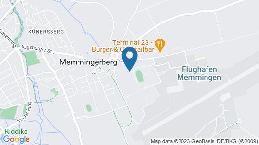 Bergers Airporthotel Memmingen Map