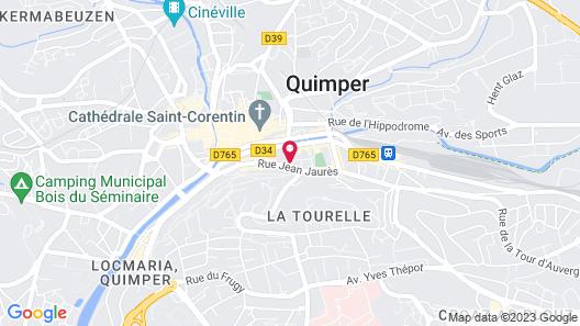 Grand Appartement Près de la Cathédrale de Quimper Map