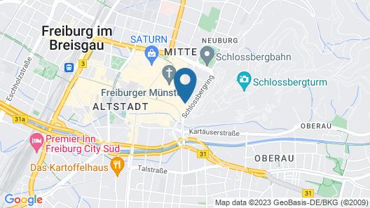 Hotel & Restaurant Kreuzblume Map