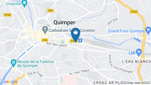 Mercure Quimper Centre Map