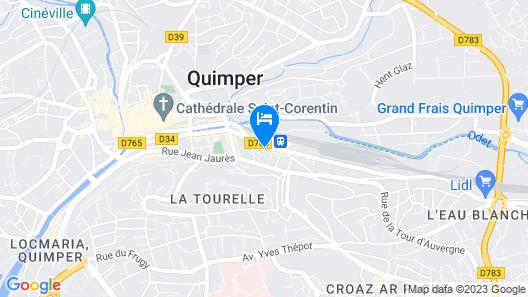 Mercure Quimper Centre Map