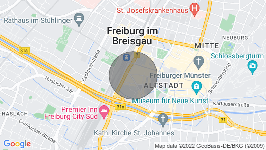 Luxury Apartment With Dream Terrace in Downtown Freiburg Map