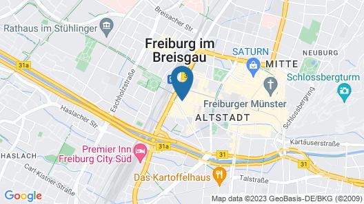 Novotel Freiburg am Konzerthaus Map