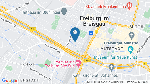StayInn Freiburg Hostel & Guesthouse Map