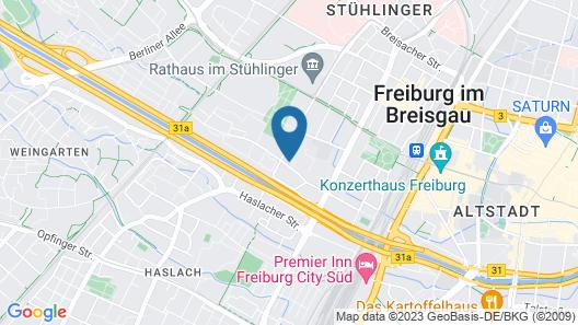 Apartment in Freiburg, Old Town 1.5 km, Main Station 1.0 km, University Hospital 1.0 km, Wlan Map