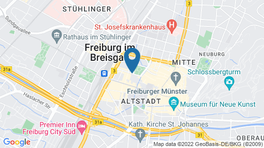 Park Hotel Post Freiburg Map