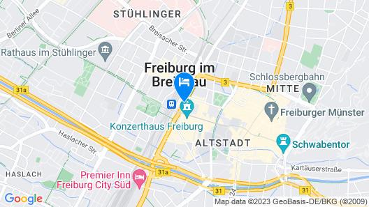 IntercityHotel Freiburg Map