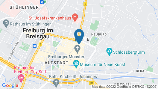 Mercure Hotel Freiburg am Munster Map