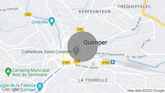 Quimper City Center Map