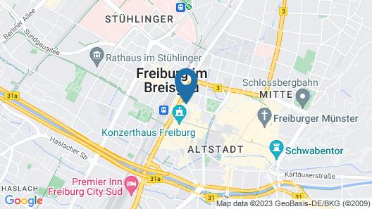 Courtyard by Marriott Freiburg Map