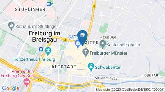 City Hotel Freiburg Map