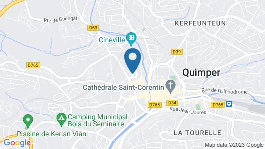 Terres de France - Appart'Hotel Quimper Map