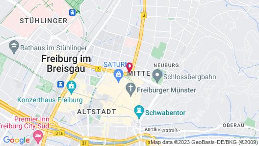 Motel One Freiburg Map