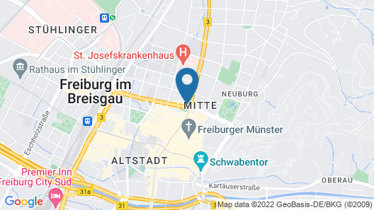 Motel One Freiburg Map
