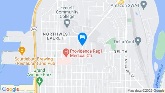 Red Lion Inn & Suites Everett Map