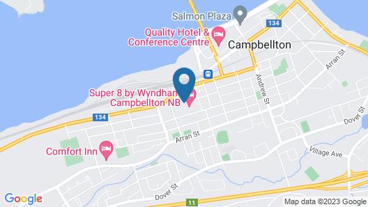 Super 8 by Wyndham Campbellton NB Map