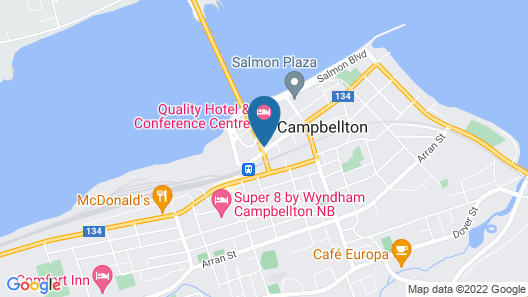 Quality Hotel & Conference Centre Map