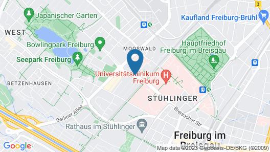 Hotel Stadt Freiburg Map
