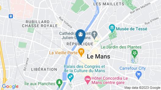 Appart'Louis Blanc Centre Ville Map