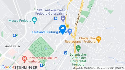 Aparthotel Adagio Access Freiburg (Opening June 2021) Map