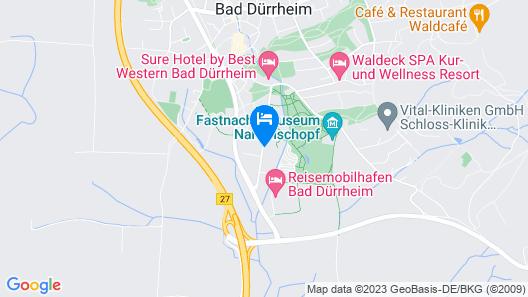 Parkblick Aparthotel und Ferienwohnungen Map