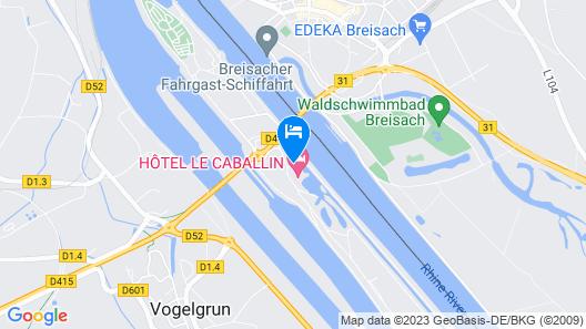 Hotel le Caballin Map