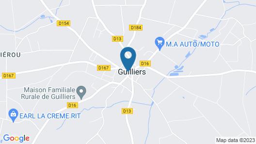 Logis Au Relais Du Porhoet Map