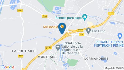 Brit Hotel Ker Lann Rennes Aeroport Map