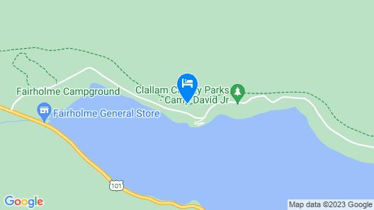 Thompson Point: A pet Friendly, Lake Front Retreat Map