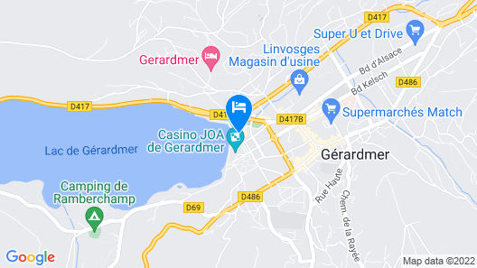 Hôtel Beau Rivage Map