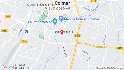 Novotel Suites Colmar Centre Map