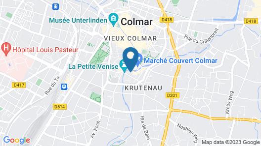 Hotel Le Colombier Suites Map