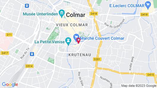 Sur Les Quais de Colmar Map