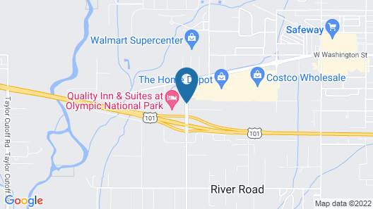 Quality Inn & Suites at Olympic National Park Map