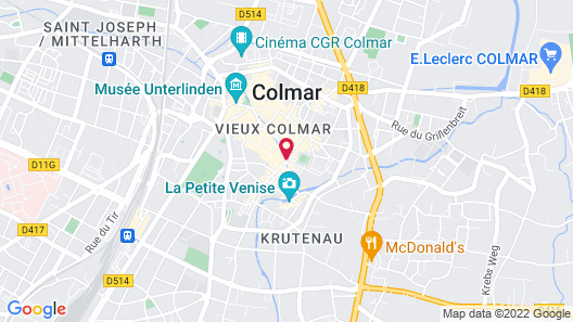 Hôtel Saint-Martin Map